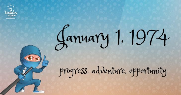 January 1, 1974 Birthday Ninja