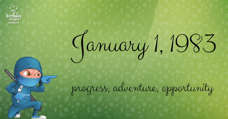 January 1, 1983 Birthday Ninja