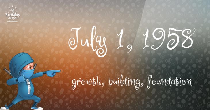 July 1, 1958 Birthday Ninja