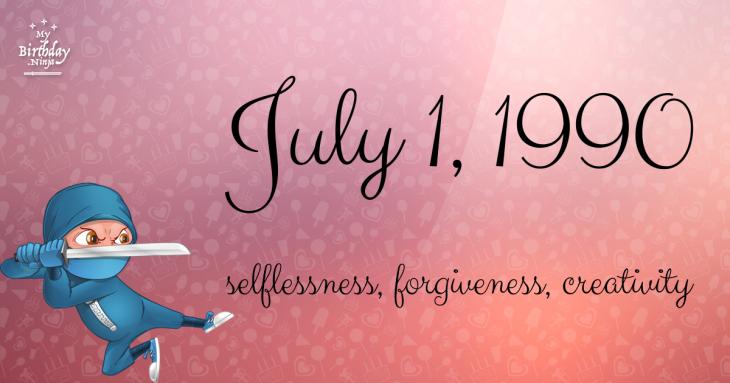 July 1, 1990 Birthday Ninja