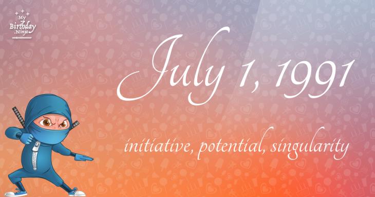July 1, 1991 Birthday Ninja
