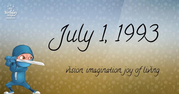 July 1, 1993 Birthday Ninja