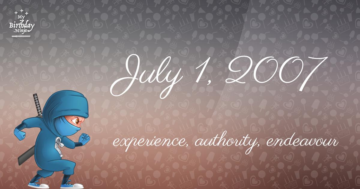 July 1, 2007 Birthday Ninja Poster