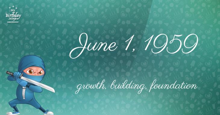 June 1, 1959 Birthday Ninja
