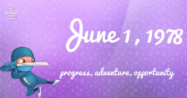June 1, 1978 Birthday Ninja