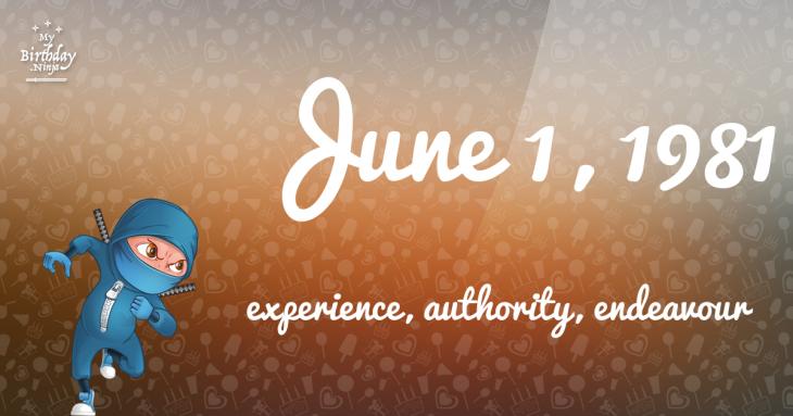 June 1, 1981 Birthday Ninja