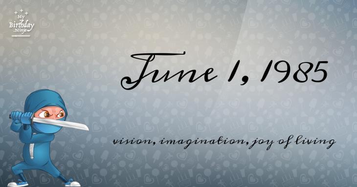 June 1, 1985 Birthday Ninja