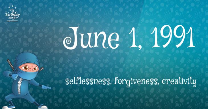 June 1, 1991 Birthday Ninja