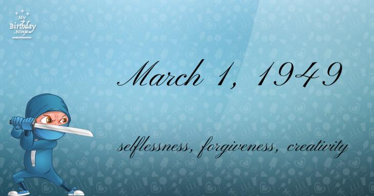 March 1, 1949 Birthday Ninja