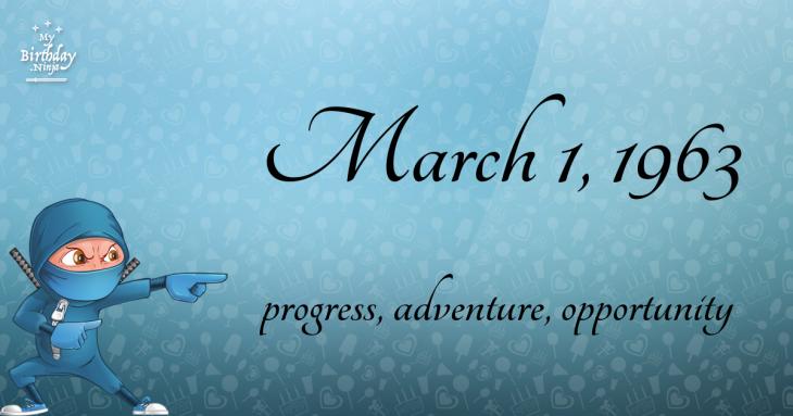March 1, 1963 Birthday Ninja