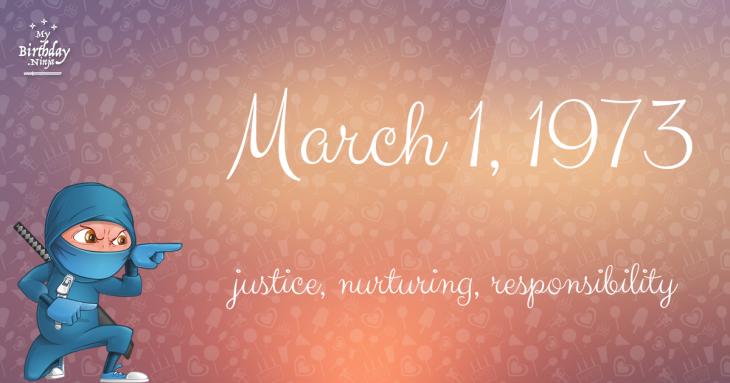 March 1, 1973 Birthday Ninja