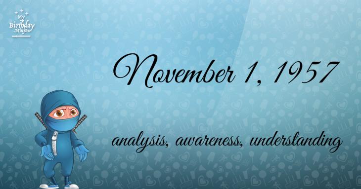November 1, 1957 Birthday Ninja