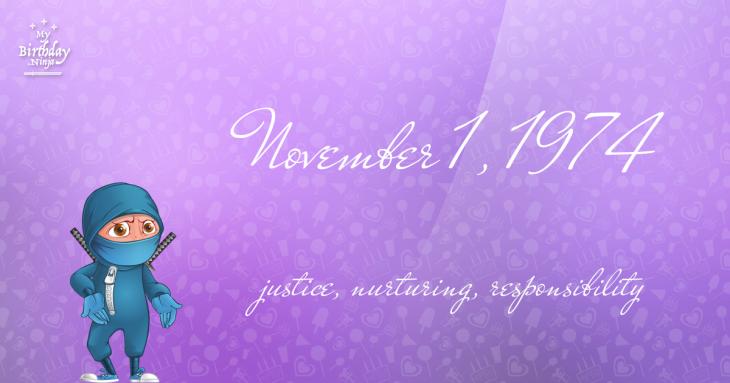 November 1, 1974 Birthday Ninja