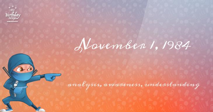 November 1, 1984 Birthday Ninja