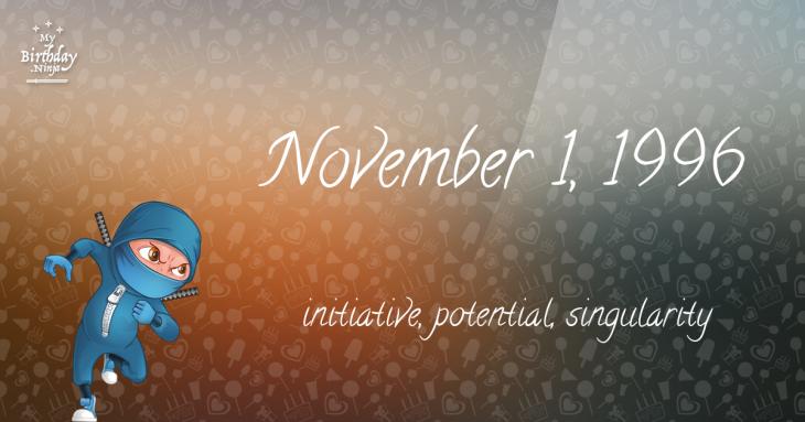 November 1, 1996 Birthday Ninja