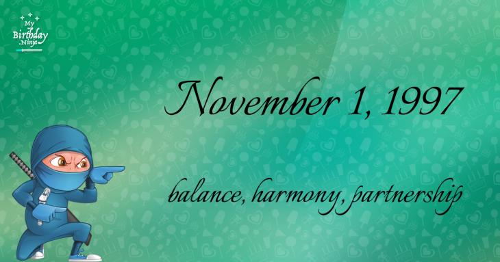 November 1, 1997 Birthday Ninja