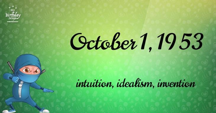 October 1, 1953 Birthday Ninja