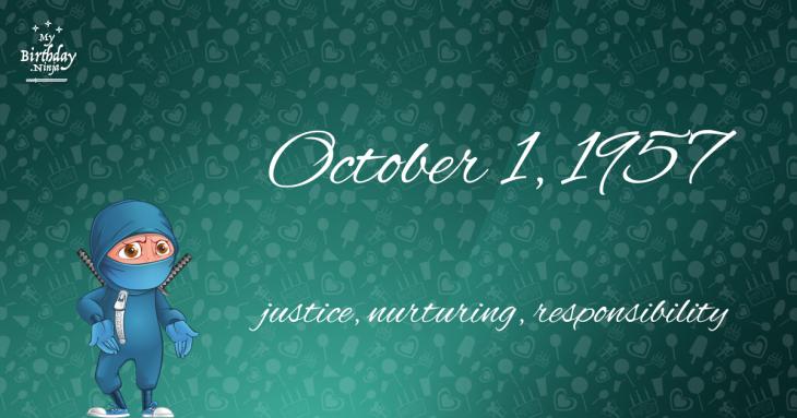 October 1, 1957 Birthday Ninja