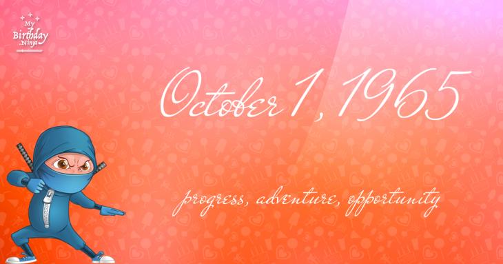 October 1, 1965 Birthday Ninja