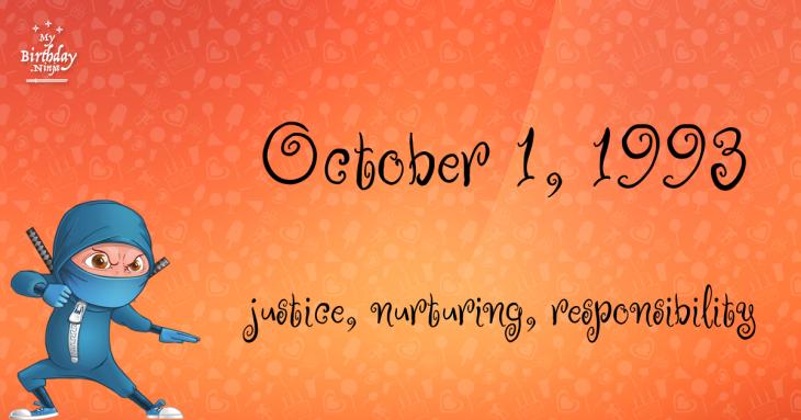 October 1, 1993 Birthday Ninja