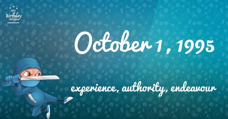 October 1, 1995 Birthday Ninja