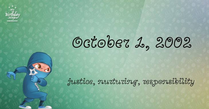 October 1, 2002 Birthday Ninja