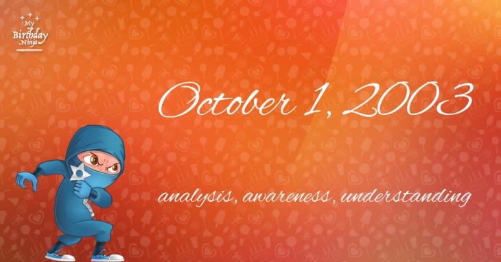 October 1, 2003 Birthday Ninja