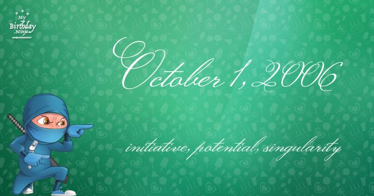 October 1, 2006 Birthday Ninja