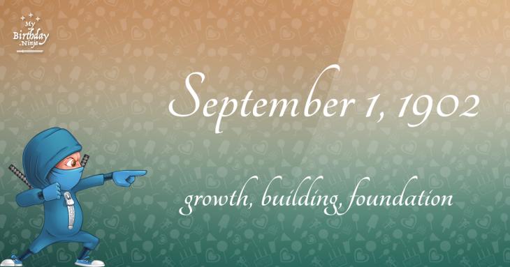 September 1, 1902 Birthday Ninja
