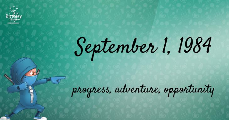 September 1, 1984 Birthday Ninja