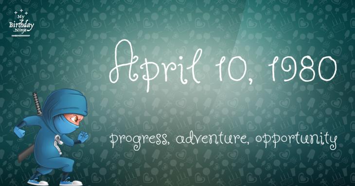April 10, 1980 Birthday Ninja