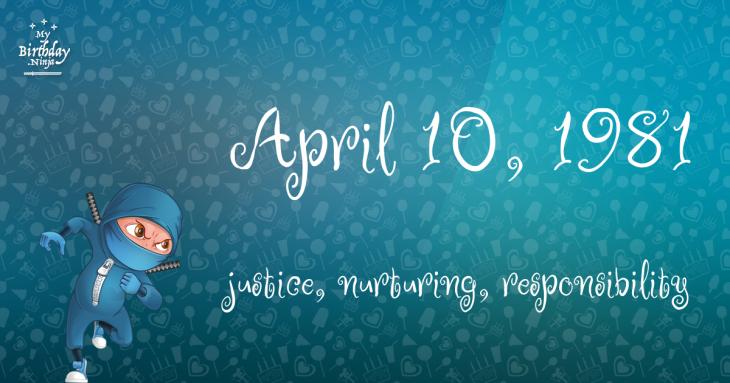 April 10, 1981 Birthday Ninja
