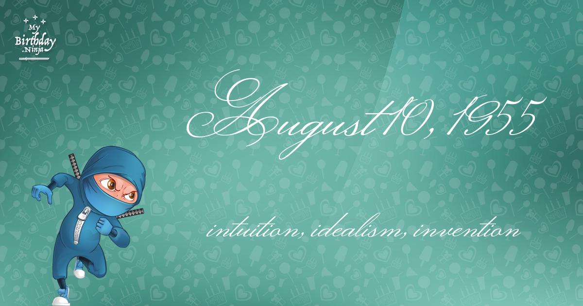 August 10, 1955 Birthday Ninja Poster