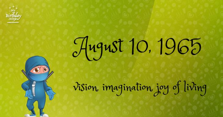 August 10, 1965 Birthday Ninja