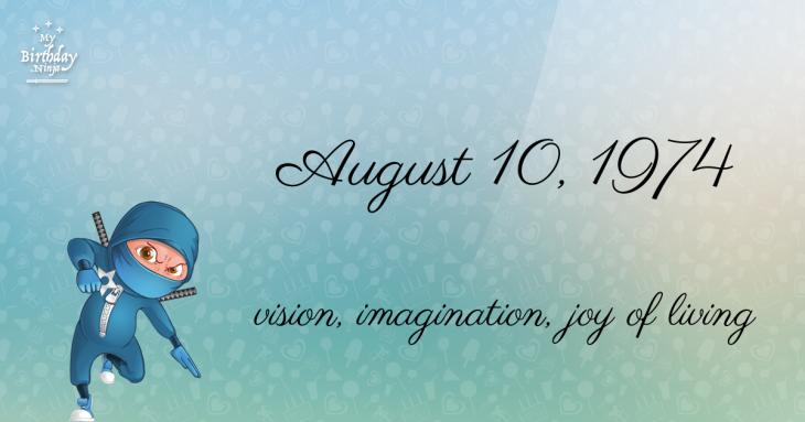 August 10, 1974 Birthday Ninja