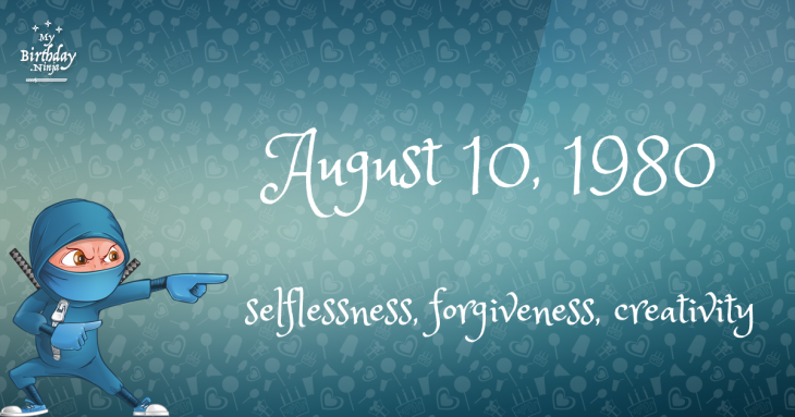 August 10, 1980 Birthday Ninja