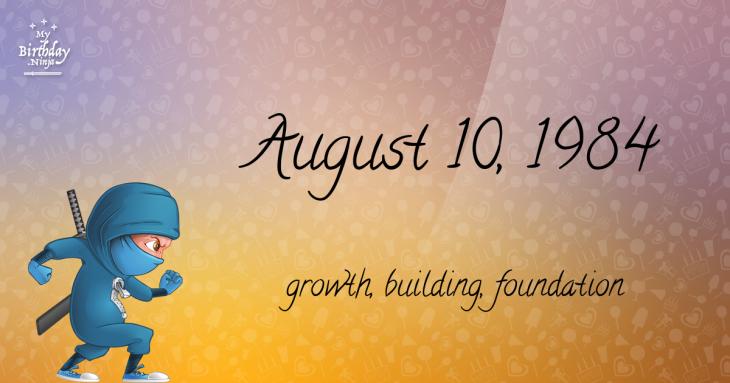 August 10, 1984 Birthday Ninja