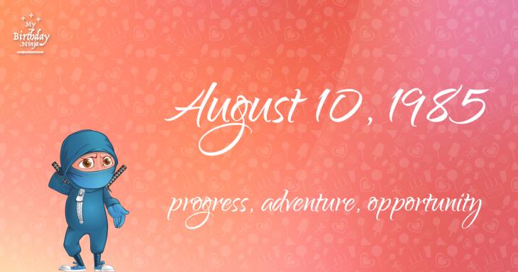 August 10, 1985 Birthday Ninja