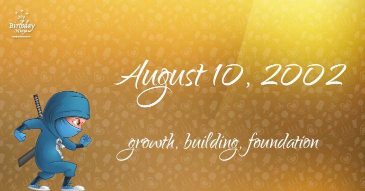 August 10, 2002 Birthday Ninja