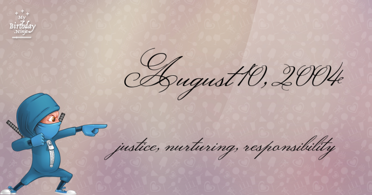 August 10, 2004 Birthday Ninja