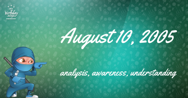 August 10, 2005 Birthday Ninja
