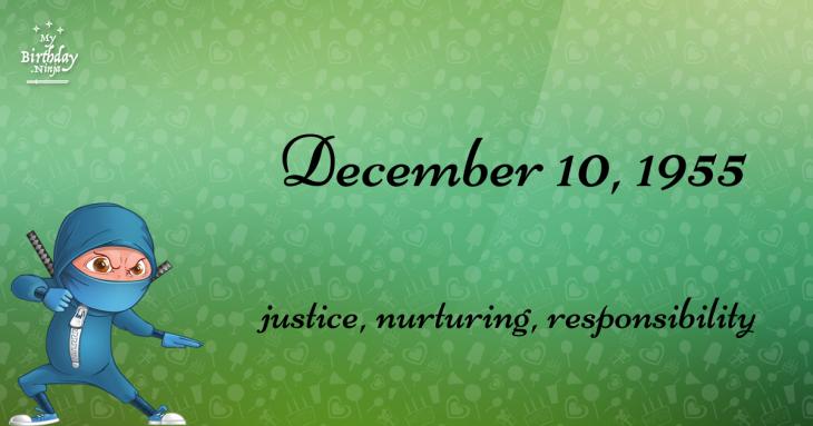 December 10, 1955 Birthday Ninja