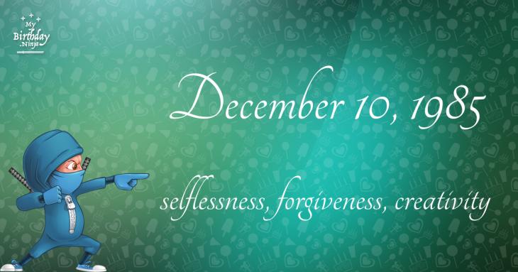December 10, 1985 Birthday Ninja