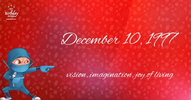 December 10, 1997 Birthday Ninja