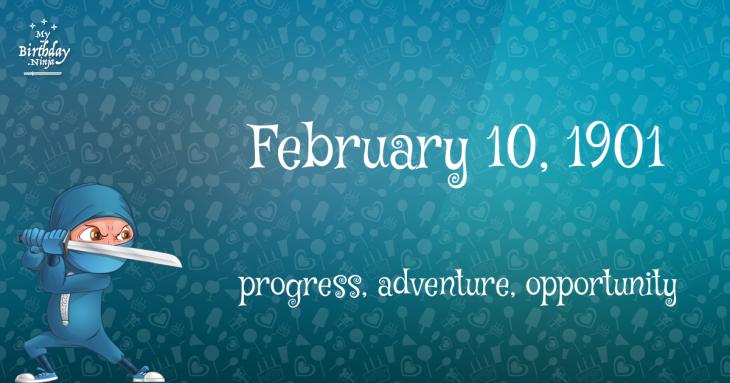 February 10, 1901 Birthday Ninja