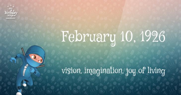 February 10, 1926 Birthday Ninja