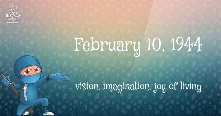 February 10, 1944 Birthday Ninja