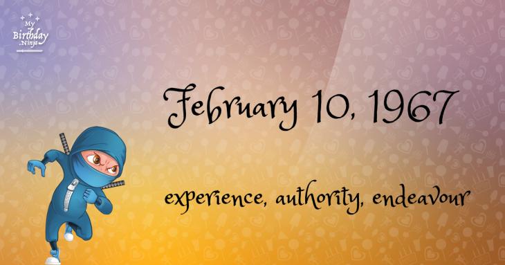 February 10, 1967 Birthday Ninja
