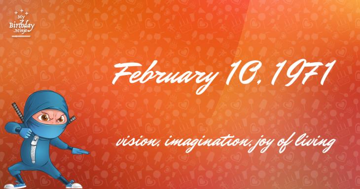 February 10, 1971 Birthday Ninja