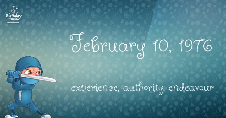 February 10, 1976 Birthday Ninja